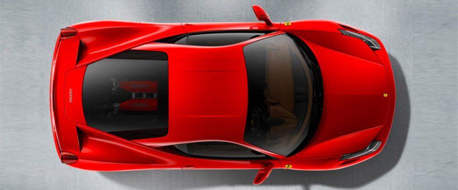Ferrari 458 Top View